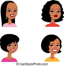 Cartoon avatar african woman series