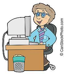 Cartoon Büroangestellte