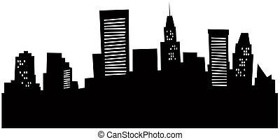 Cartoon Baltimore Skyline.