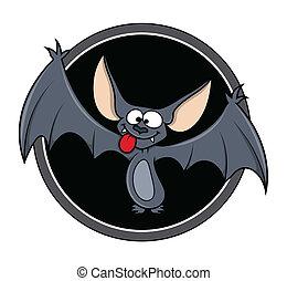 Cartoon Batvektor