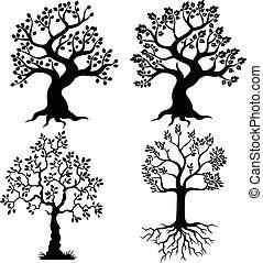 Cartoon Baum Silhouette.