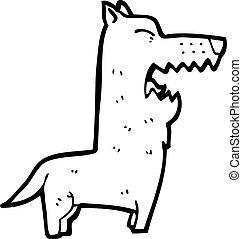 Cartoon bellender Hund