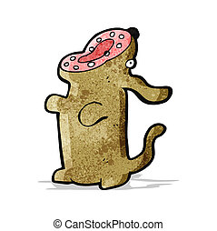 Cartoon bellender Hund.