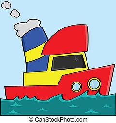 Cartoon-Boot