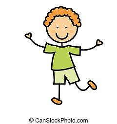 Cartoon Boy Ikone.