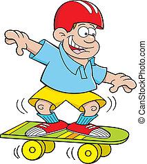 Cartoon-Boy Skateboard