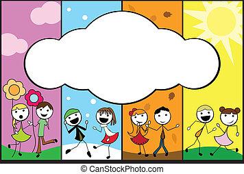 Cartoon bringt die Kinder in vier Staffeln unter