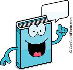 Cartoon-Buch spricht.