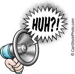 Cartoon Bullhorn Redeblasen.