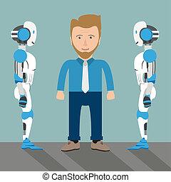 Cartoon Businessman 2 Roboter