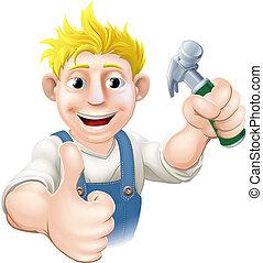 Cartoon Carpenter oder Baustelle g.