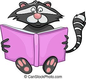Cartoon Charakter Waschbär
