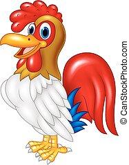 Cartoon Chicken Hahn posiert