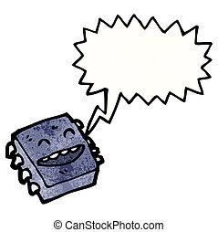 Cartoon-Computermikrochip