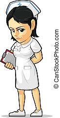 Cartoon der Krankenschwester