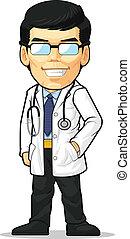 Cartoon des Doktors
