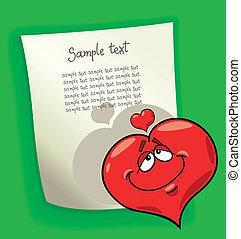 Cartoon Design mit Herz in Liebe.