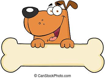 Cartoon Dog über Knochenmark