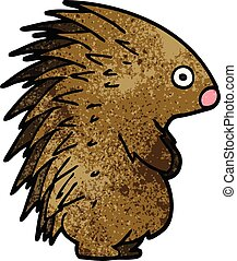 Cartoon doodle spiky Igel.