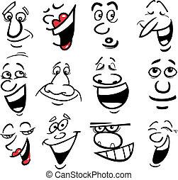 Cartoon Emotionen illustrieren