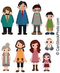 Cartoon-Familien-Ikone