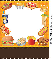 Cartoon Fastfood-Karte