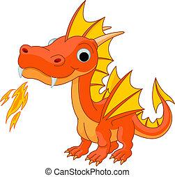 Cartoon Feuerdrache