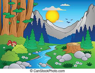 Cartoon Forestlandschaft 2