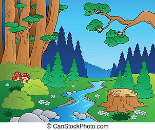 Cartoon Forstlandschaft 1