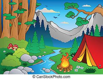 Cartoon Forstlandschaft 4