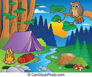 Cartoon Forstlandschaft 5