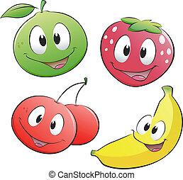 Cartoon-Früchte