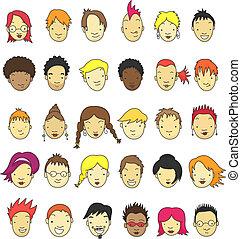 Cartoon Gesichter