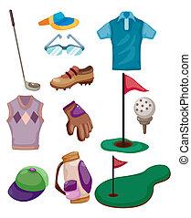 Cartoon Golf-Ikone