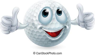 Cartoon Golfball Charakter.