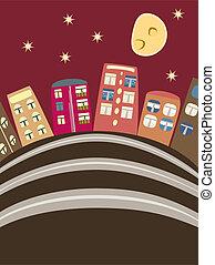 Cartoon-Häuser
