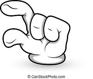 Cartoon Handfinger zeigt Vektor