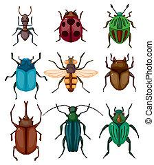 Cartoon-Insekten-Ikone