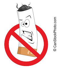 Cartoon kein Rauchzeichen