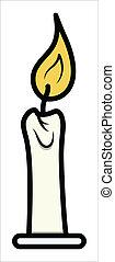 Cartoon Kerzen-Clipart - Vektor