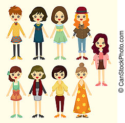 Cartoon-Mädchen-Ikone