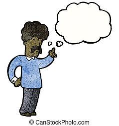 Cartoon-Mann mit einer Idee