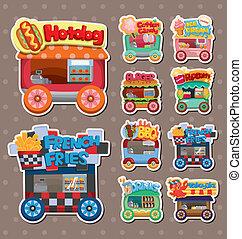 Cartoon-Markt-Autoaufkleber