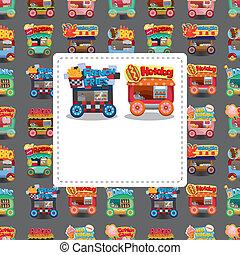 Cartoon-Marktkarte