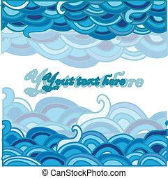 Cartoon-Meeres-Hintergrund