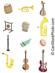 Cartoon-Musikinstrument-Ikone