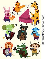Cartoon-Musiktier-Ikone