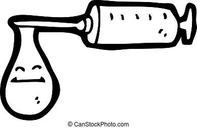 Cartoon Nadel aus Blut