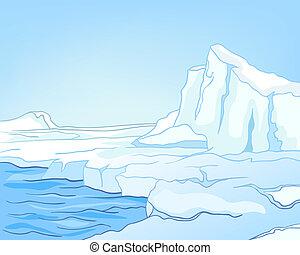 Cartoon Naturlandschaft
