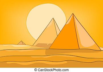Cartoon Naturlandspyramide